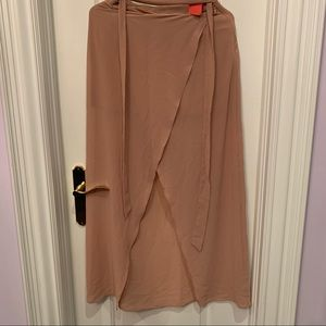 NWT Forever 21 Nude- Mauve Lightweight Maxi Skirt with Slit